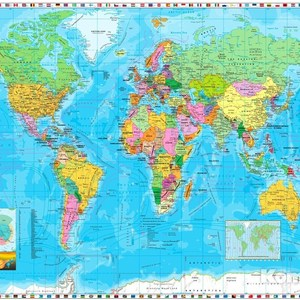 Фотообои Komar World Map / Flags (2,54х1,84 м) (4-055) page flags green 50 flags dispenser 2 dispensers pack page 2
