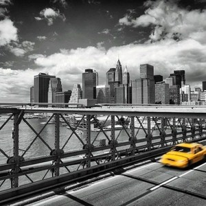 Фотообои Komar Taxi to Brooklyn (2,54х1,84 м) (4-929) фотообои komar brooklyn brick 3 68х2 54 м 8 882