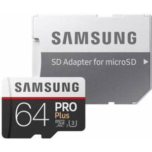Карта памяти Samsung Pro PLUS 2 microSDXC 64Gb Class10 + adapter смартфон meizu pro 7 plus 64gb m793h золотистый