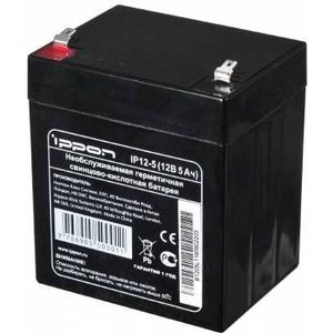 Батарея Ippon IP12-5 12В 5Ah батарея для ибп ippon ip12 7 12в 7ач