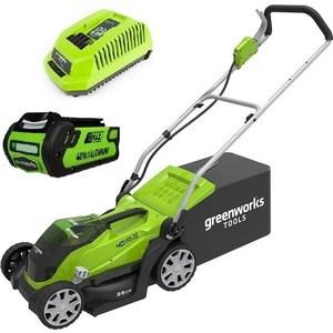 Газонокосилка аккумуляторная GreenWorks G40LM41 (2501907VB) greenworks g40lt30