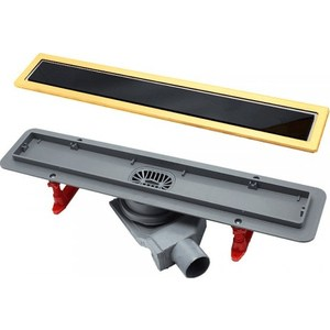 Душевой лоток Pestan Gold Black Glass Line 300 мм (13100094)
