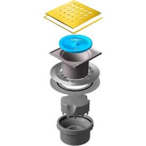 Душевой трап Pestan Vertical Drops Gold 150 мм (13000164) душевой трап pestan vertical drops mask 150 мм 13000075