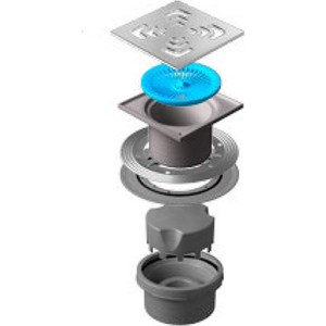 Душевой трап Pestan Vertical Square 150 мм (13000019) душевой трап pestan vertical drops mask 150 мм 13000075
