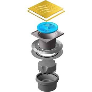 Душевой трап Pestan Vertical Tide Gold 150 мм (13000163) душевой трап pestan vertical square 150 мм 13000019