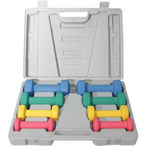 DFC Набор неопреновых гантелей (0,5х2, 1х2, 1,5х2, 2х2) в кейсе (DS-01)