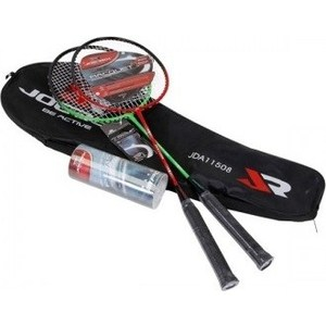 Набор для бадминтона Joerex JDA11508 (сталь) 2 ракетки и 3 волана в чехле набор для бадминтона 2 ракетки 3 волана в сумке атлетик