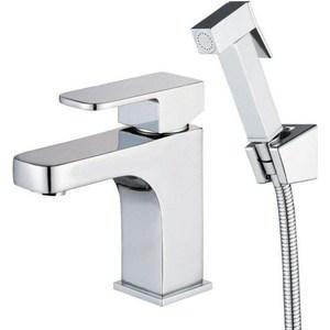 Смеситель для раковины Kaiser Sonat с гигиеническим душем, хром (34088) смеситель для раковины kaiser sonat 15 см хром 34010
