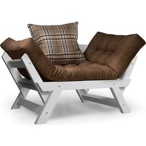 Кресло Anderson Отман эмаль-коричневая рогожка.