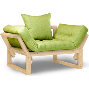 Кресло Anderson Амбер сосна-зеленая рогожка.