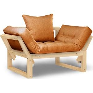 Кресло Anderson Амбер сосна-оранжевая рогожка.