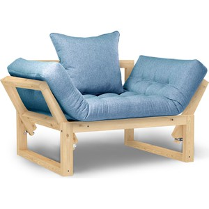 Кресло Anderson Амбер сосна-синяя рогожка.