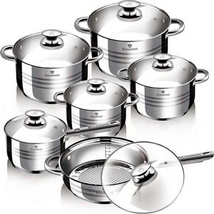 Набор посуды 12 предметов Blaumann Gourmet Line Jambo (1031-ВL)