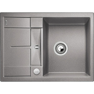Кухонная мойка Blanco Metra 45S Compact алюметаллик (519574) кухонная мойка blanco metra 45s compact серый беж 519580