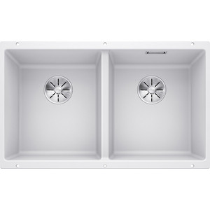 Кухонная мойка Blanco Subline 350/350-U белый (523578/516287) мойка subline 350 150 u cer basalt 516976 blanco