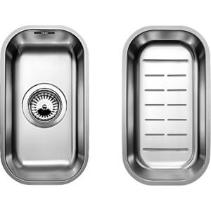 Кухонная мойка Blanco Supra 180-U с корзинчатым вентилем и коландером (518198) кухонная мойка blanco supra 180 u нерж сталь полированная с корзинчатым вентилем с коландером