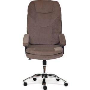 Кресло TetChair SOFTY хром ткань, коричневый смоки браун стул компьютерный tetchair step
