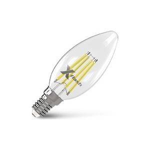 Филаментная светодиодная лампа X-flash XF-E14-FL-C35-4W-4000K-230V (арт.48649) филаментная светодиодная лампа x flash xf e14 flmd c35 4w 2700k 230v арт 48700