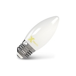 Филаментная светодиодная лампа X-flash XF-E27-FLM-C35-4W-2700K-230V (арт.48519) филаментная светодиодная лампа x flash xf e14 flm ca35 4w 2700k 230v арт 48847