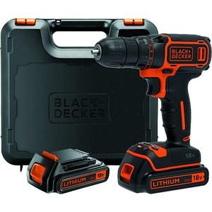 Дрели-шуруповерты аккумуляторные Black-Decker BDCDC18K1B электроинструмент black decker kr504re