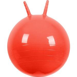 Мяч прыгун МалышОК , диаметр 500мм с рожками красный в подарочной упаковке