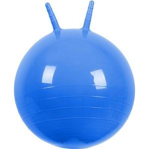 Фотография товара мяч прыгун МалышОК , диаметр 500мм с рожками голубой в подарочной упаковке (746684)