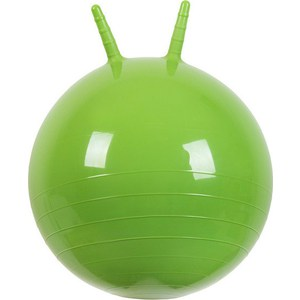 Мяч прыгун МалышОК , диаметр 500мм с рожками зеленый в подарочной упаковке