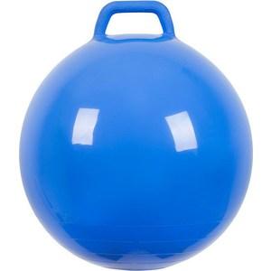 Мяч прыгун МалышОК , диаметр 500мм с ручкой голубой в подарочной упаковке