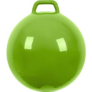 Мяч прыгун МалышОК , диаметр 500мм с ручкой зеленый в под. упаковке
