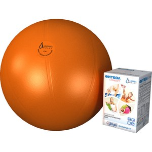 Фитбол Альпина Пласт Стандарт оранжевый, диаметр 450 мм альпина пласт банки вакуумные альпина пласт антицеллюлитные 2