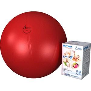 Фитбол Альпина Пласт Стандарт красный, диаметр 550 мм