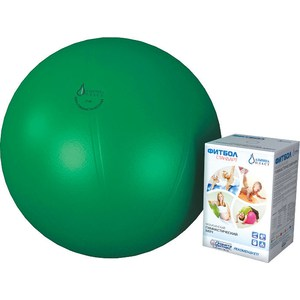 Фитбол Альпина Пласт Стандарт зеленый, диаметр 650 мм альпина пласт банки вакуумные альпина пласт антицеллюлитные 2