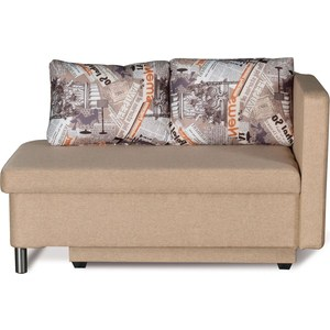 Диван-кровать СМК Эмма 126 Пф-1ек (правый) 325 беж/модерн диван кровать смк дюссельдорф 147 б 2д у1пф правый угол 434 серо коричневый