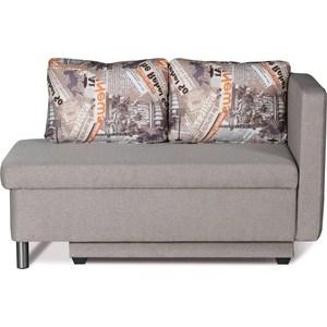 Диван-кровать СМК Эмма 126 Пф-1ек (правый) 338 серый диван кровать смк дюссельдорф 147 б 2д у1пф правый угол 434 серо коричневый