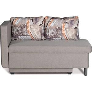 Диван-кровать СМК Эмма 126 1ек-Пф (левый) 338 серый диван кровать смк дюссельдорф 147 б 2д у1пф правый угол 352 alba ash