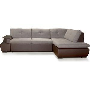 Диван-кровать СМК Дюссельдорф 147 Б-2д-У1пф (правый угол) 391 кор диван кровать смк дюссельдорф 147 б 2д у1пф правый угол 434 серо коричневый