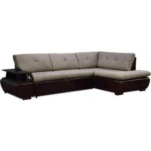 Диван-кровать СМК Дюссельдорф 147 Б-2д-У1пф (правый угол) 434 серо-коричневый диван кровать смк дюссельдорф 147 б 2д у1пф правый угол 434 серо коричневый