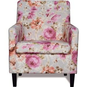 Кресло СМК Гамбург 316 1х313 серо-розовый кпб с 219