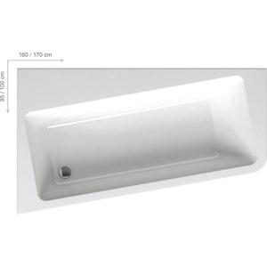 Акриловая ванна Ravak 10 160х95 L левая белая (C831000000) акриловая ванна triton изабель левая