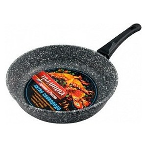 Сковорода d 24 см со съемной ручкой Традиция Мрамор (ТМ2245) сковорода традиция мрамор с антипригарным покрытием со съемной ручкой диаметр 24 см тм2245