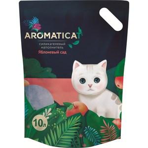 Наполнитель AromatiCat Яблоневый сад силикагелевый с ароматом яблока для кошек 10л (АС210) наполнитель aromaticat прованс силикагелевый для кошек 10л ас310