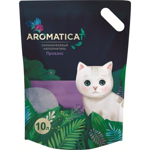 Наполнитель AromatiCat Прованс силикагелевый для кошек 10л (АС310) наполнитель aromaticat прованс силикагелевый для кошек 10л ас310