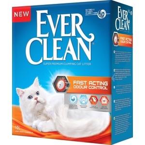 Наполнитель Ever Clean Fast Acting мгновенный контроль запахов комкующийся для кошек 10л минеральный комкующийся наполнитель сибирская кошка ультра для кошек 3л