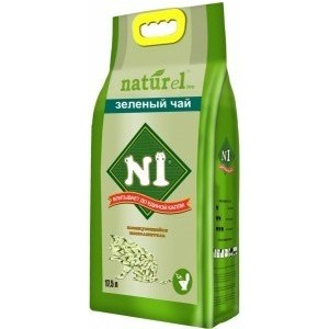 Наполнитель N1 Crystals NATUReL Зеленый чай древесный комкующийся с ароматом зеленого чая для кошек 17,5л naturel пакеты для лотков одноразовые n1 naturel 16 шт