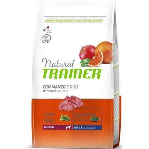 Сухой корм Trainer Natural Medium Adult with Beef and Rice с говядиной и рисом для взрослых собак средних пород 3кг цена