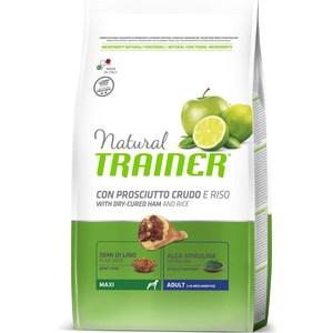 Сухой корм Trainer Natural Maxi Adult with Dry-Cured Ham and Rice с сыровяленой ветчиной и рисом для взрослых собак крупных пород 3кг