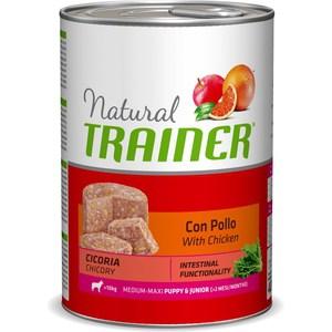 Консервы Trainer Natural Medium-Maxi Puppy & Junior with Chicken с курицей для щенков и юниоров средних и крупных пород 400г