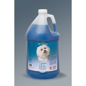 Фото - Шампунь BIO-GROOM Super White Shampoo супер белый осветляющий для собак 3,8л (21128) trixie стойка с мисками trixie для собак 2х1 8 л