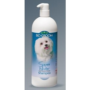 Шампунь BIO-GROOM Super White Shampoo супер белый осветляющий для собак 946мл (21132/21332)