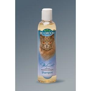 Шампунь-кондиционер BIO-GROOM Silky Cat Protein-Lanolin Shampoo с протеином-ланолином шелковый без слез для кошек 237мл (20008) шампунь secret key mu coating silk protein shampoo